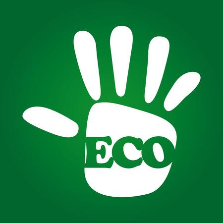 enviromental: eco design over green background illustration