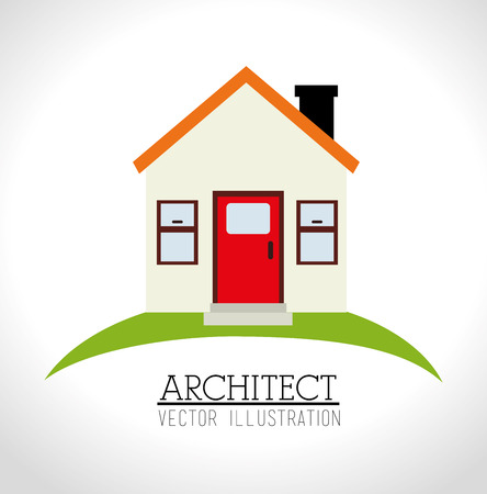 recondition: home design over white background illustration