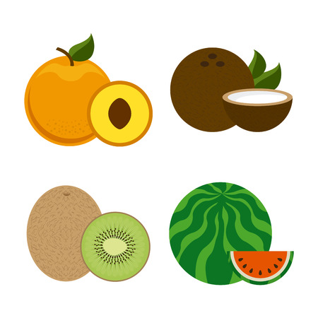 healt: fruits design over white background illustration Illustration
