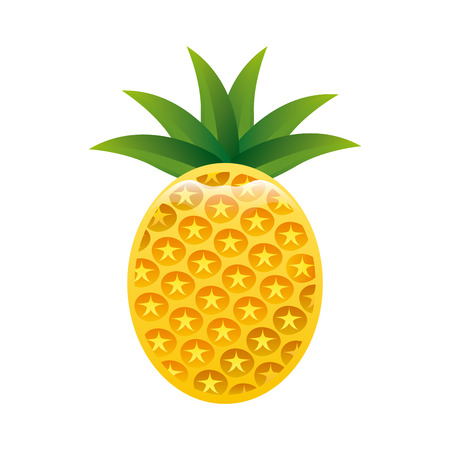 healt: pineapple fruit design over white background illustration