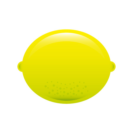 healt: lemon fruit design over white background illustration
