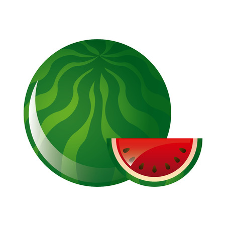 healt: watermelon fruit design over white background illustration Illustration