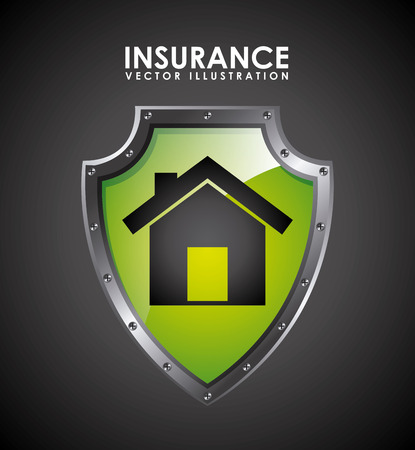 guard house: insurance design over  black background vector illustration Illustration