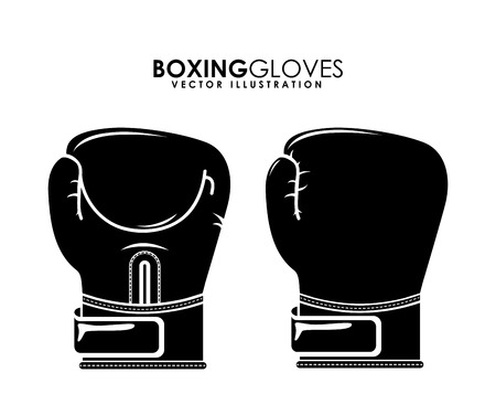 sporting event: boxing design over white background illustration