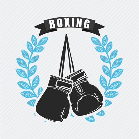 boxing design over white background illustration