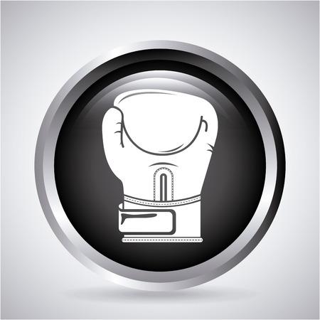 boxing glove: boxing glove design over gray background illustration