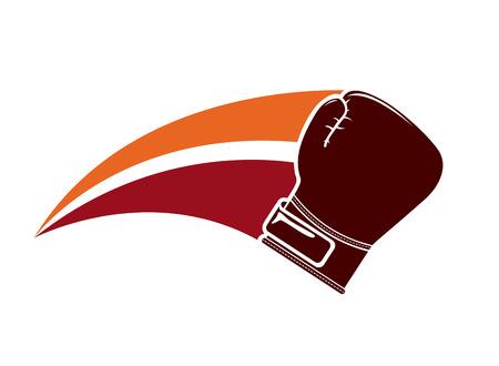 boxing glove: boxing glove design over white background illustration