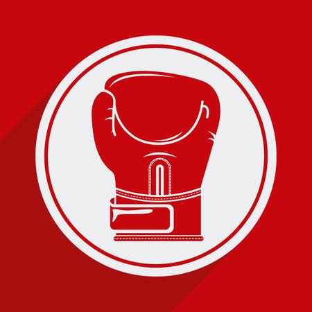 boxing glove: boxing glove design over red background illustration