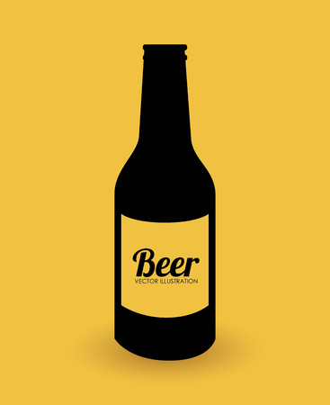 Beer design over yellow background illustration Vector