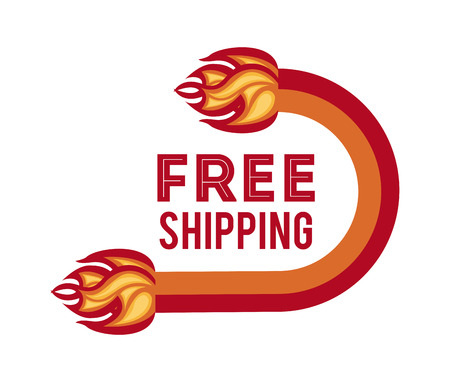 free shiping: free shipping design over white background illustration