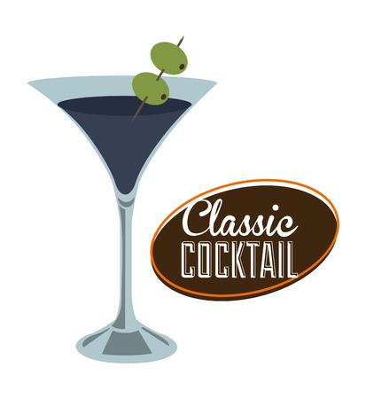 bar: cocktail drink design over white background illustration