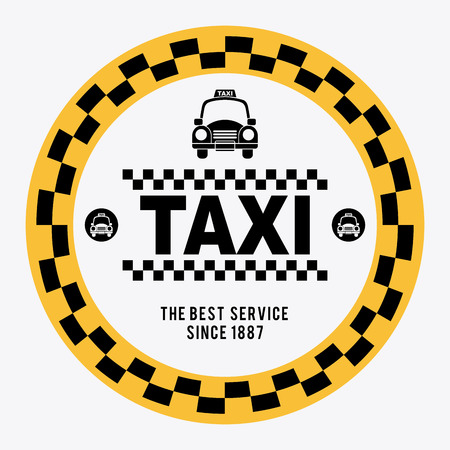 taxi over gray background illustration Vector