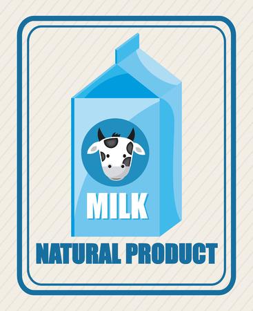 pasteurization: milk design over white background illustration