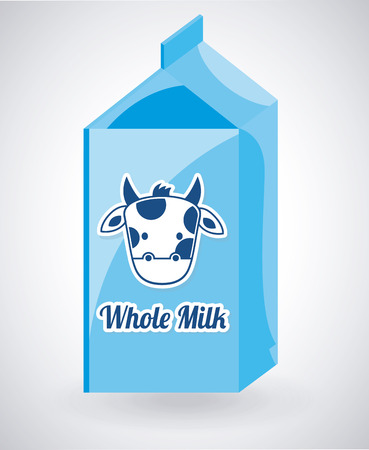 pasteurized: milk design over gray background illustration Illustration