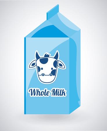 회색 배경 그림 위에 우유 디자인