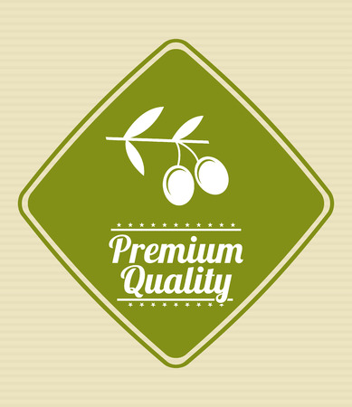 quality product: Premium quality product over beige background illustration