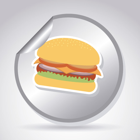 Burger design over gray background illustration Vector