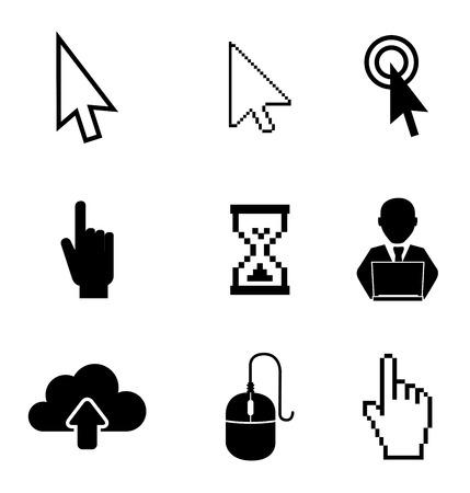 mouse cursor: Technology pointers design over white background illustration Illustration