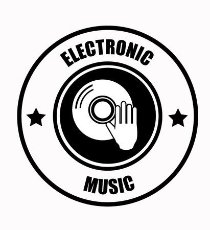 electronic music: Electronic Music design over white background illustration Illustration