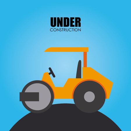 recondition: Construction machine design over blue background illustration Illustration