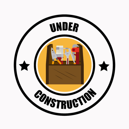 recondition: Under Construction design over white background illustration