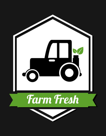 farm fresh design over black background illustration Vector