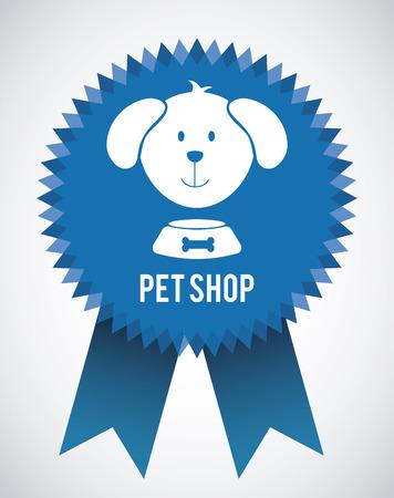 petshop: pet shop design over gray background illustration Illustration
