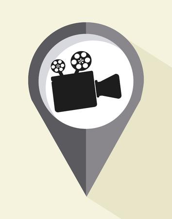 camera film: camera film design over beige background illustration Illustration