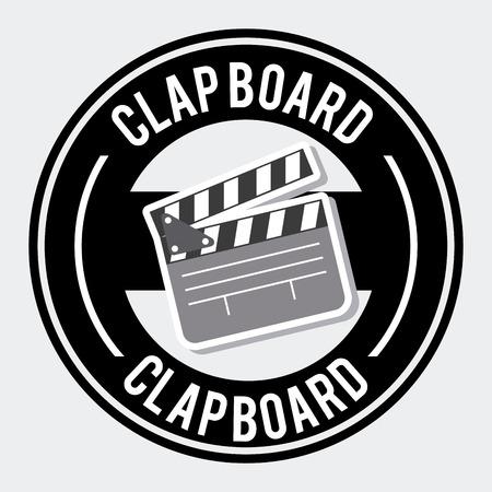 clap board: dise�o de tarjeta de la palmada sobre fondo blanco Ilustraci�n Vectores