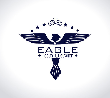 Eagle Wings design over white background illustration Vector