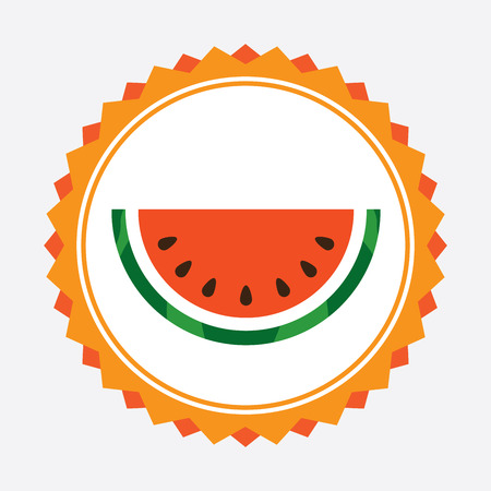 healt: fruit design  over white  background vector illustration
