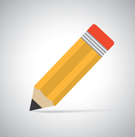 special education: pencil design over  gray background vector illustration