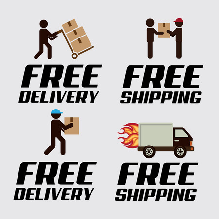 free shiping: delivery design over white background vector illustration