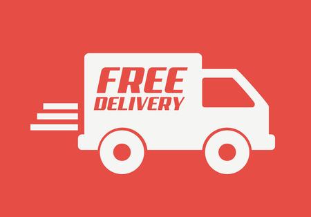 delivery design over pink background vector illustration
