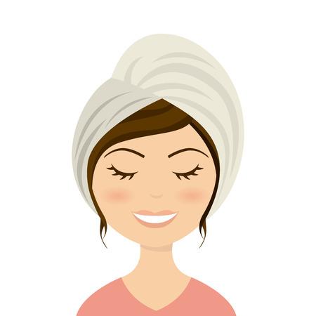 handful: spa design over white  background vector illustration Illustration