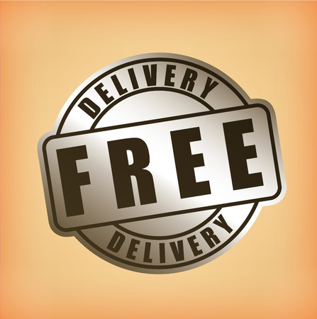 free shiping: delivery design over pink background vector illustration