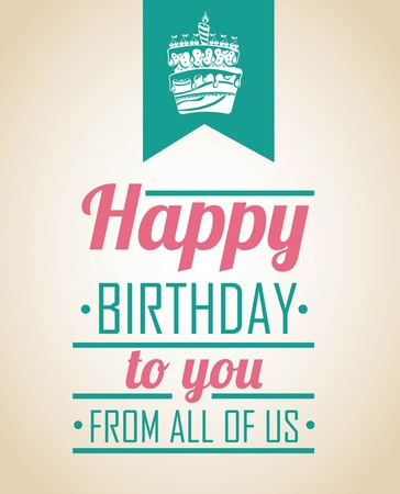 Birthday design over  beige background, vector illustration Ilustracja