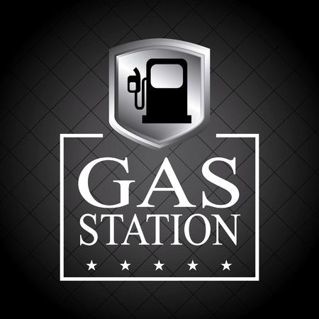 seal gun: gasoline design over black background vector illustration Illustration