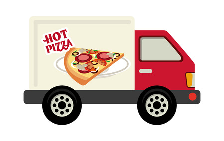 pizza delivery: delivery design over white background vector illustration