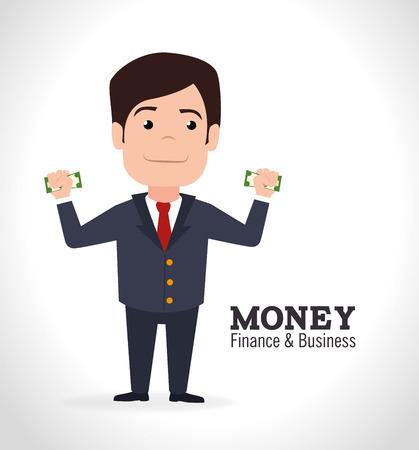 ceo: Money design over white background, vector illustration