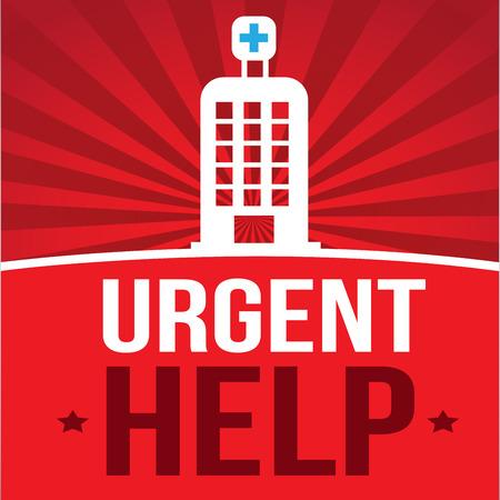 community health: medical,design over red background vector illustration Illustration