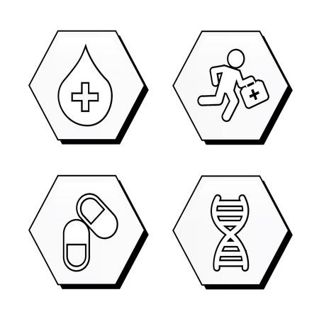 medische, ontwerp op een witte achtergrond vector illustratie