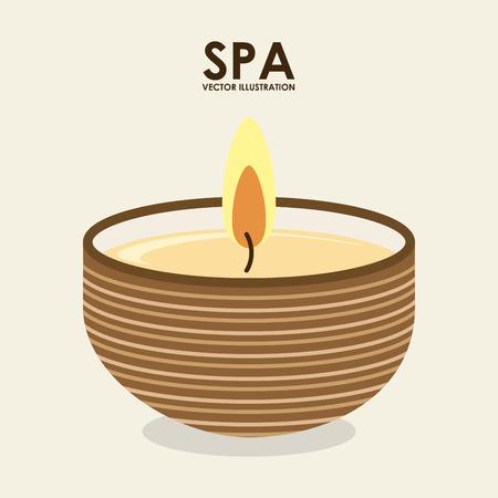 handful: spa design over white background vector illustration