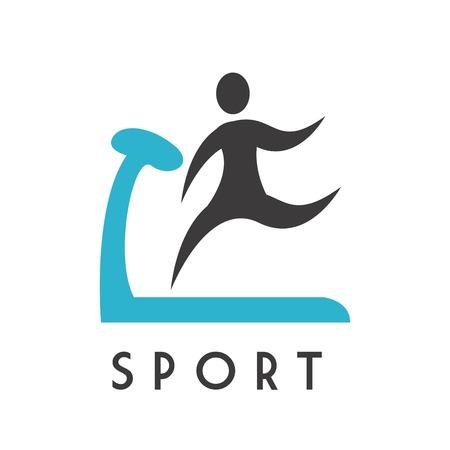 sporting event: gym design over white background vector illustration Illustration