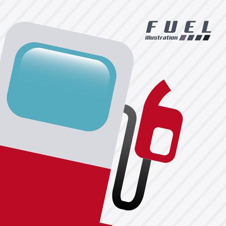 gasoline design over white background vector illustration