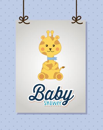 girafe: baby design over  blue background vector illustration