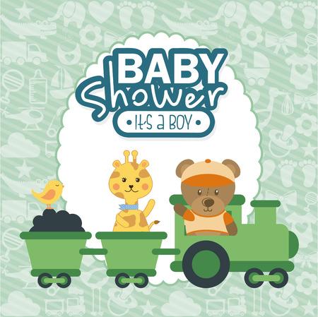 baby design over  pattern background vector illustration Illustration