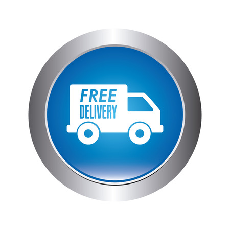 circl: delivery design over white background vector illustration