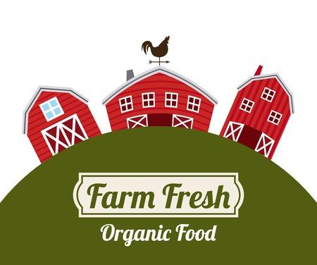 farm fresh design over white background vector illustration Vector