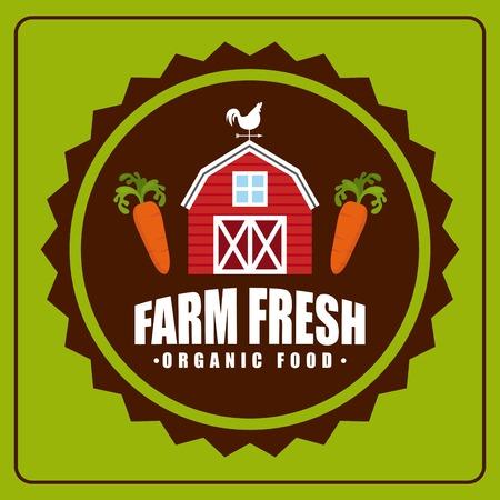 farm fresh design over green  background vector illustration Vector